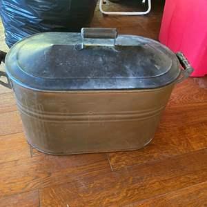 Lot # 673 - Vintage Copper Wash Tub/Boiler