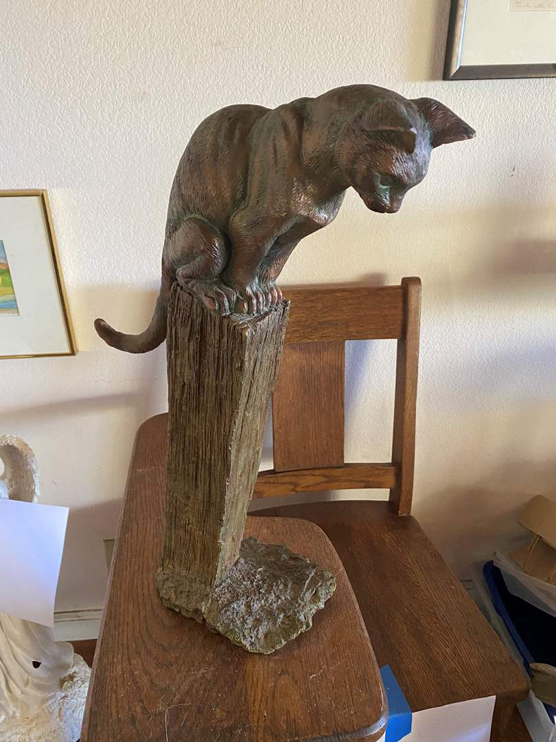 Lot # 675 - Cat Resin Sculpture (main image)