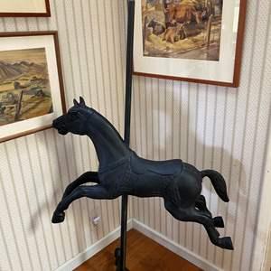 Lot # 689 - Child Size Iron Carousel Horse