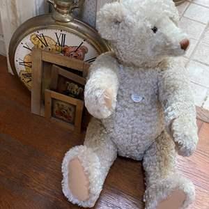 Lot # 690 - Steiff Bear, Clock and Wall Art