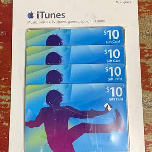 Lot # 437 - $40 in iTunes Gift Cards