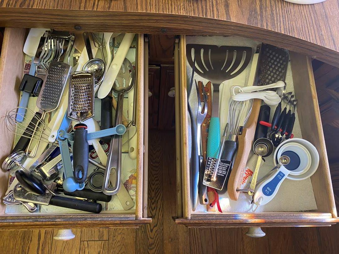Lot # 607 - Two Utensil Drawers Full (main image)