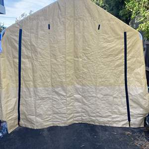 Lot # 614 - Portable Garage with Anchors - 10' x 17' (Rip in canopy)