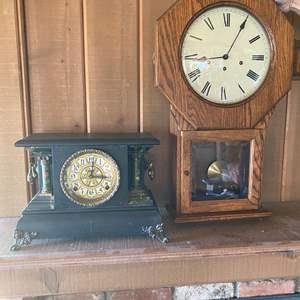 Lot # 680 - Mantel Clock & Wall Clock