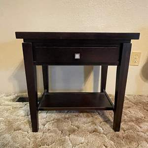 LOT # 2 - End Table with Drawer (Matches Lot# 3)
