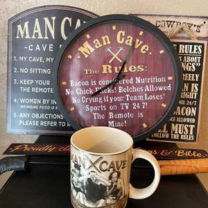 LOT # 11 - Man Cave Decor