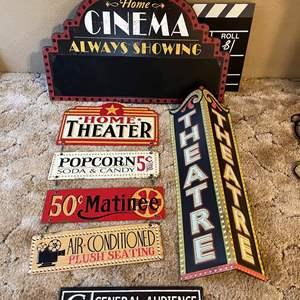 LOT # 12 - Metal Movie Cinema Decor Signs