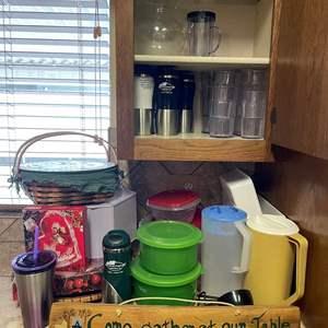 LOT # 27 - Assorted kitchen goods/ Kitchen Towels/ Pot Holders