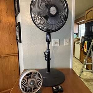 LOT # 42 - Lasko House Fan with remotes, Duracraft Fan