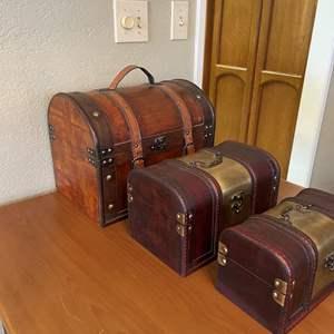 LOT # 46 - Decorative Wood Boxes