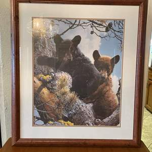 LOT # 53 - The Gallery Of Cape Craftmens Bear and Cub Picture Frame, Metal Key Rack