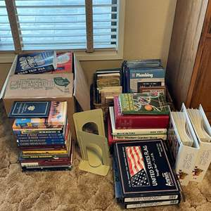 LOT # 63 - Plumbing How to Books, American Flags and Assorted literature