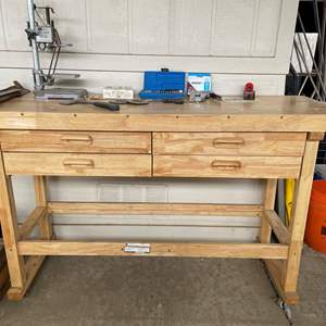 """LOT #  120 - 60"""" Workbench w/ tools included"""