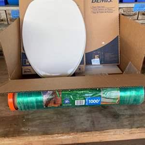 """LOT # 139 - Bemis 18.5"""" 47cm New Toilet Seats/ Large Stretch Wrap"""