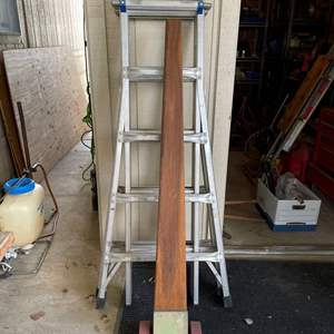 LOT # 141 - Werner 300lb. Weight Capacity, 21 Foot ladder, Multi-purpose, Ladder, Step ladder and Scaffolding