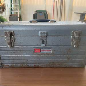 Lot # 167- Vintage Craftmens Tool Box Containing Electrical Supplies