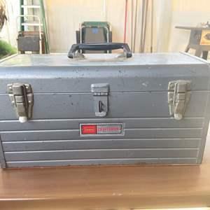 Lot # 168 - Vintage Craftmens Tool Box Containing Plumbing Supplies