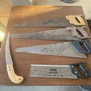 Lot # 175- Wood Hand Saws