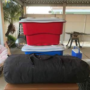 Lot # 187 - Large Tent/ Ice Chest(s)
