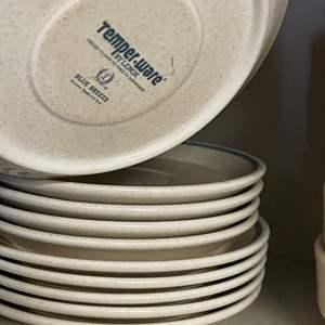 Lot # 196 - Temper-ware By Lenox Blue Breeze Complete Dish Set
