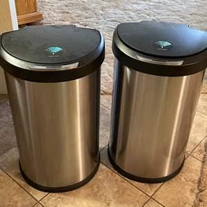 Lot # 200 - Multi Sense Trash Cans (2)