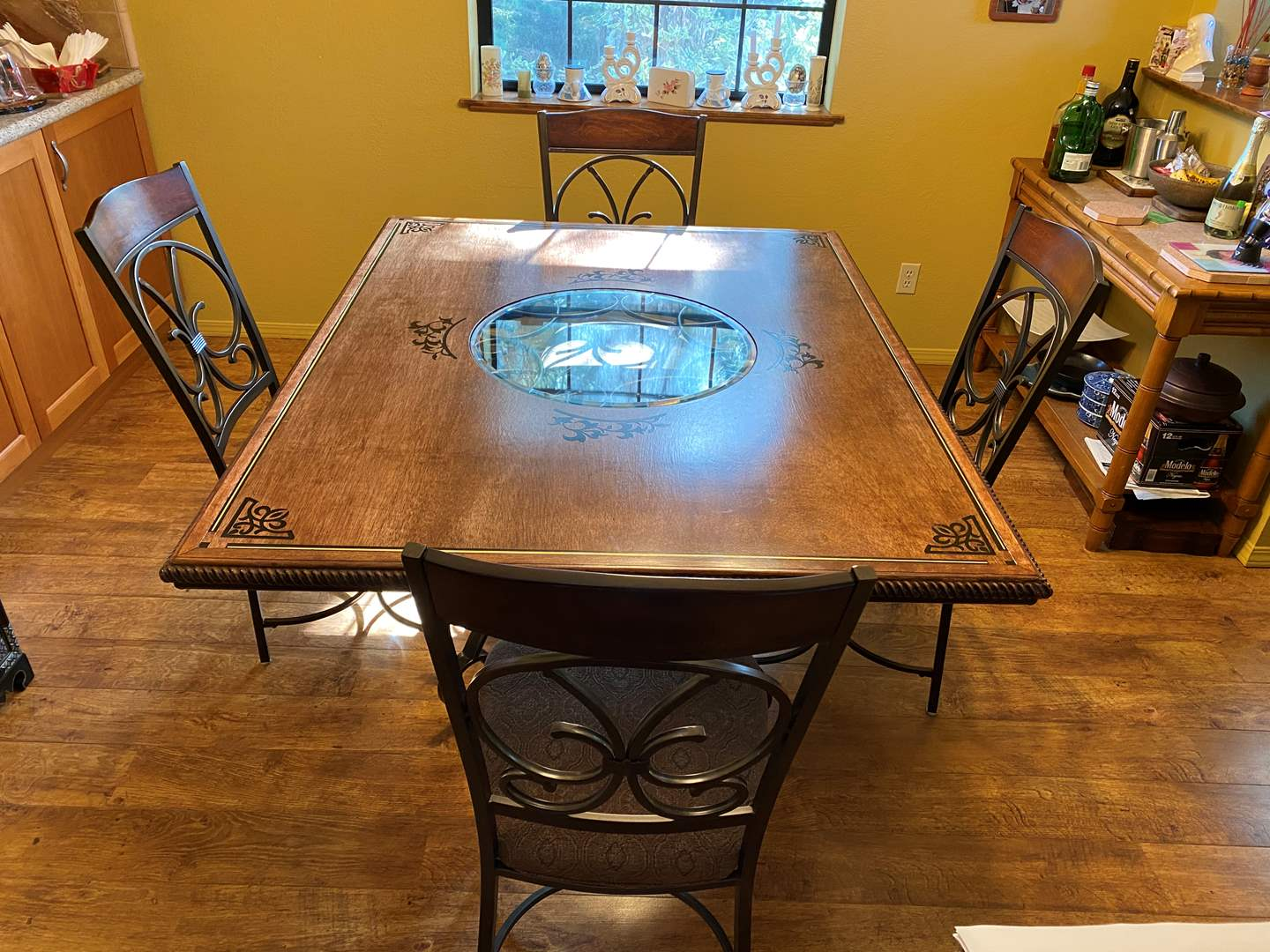 Lot # 1 - Custom Made Dining Room Table With 4 Chairs (main image)