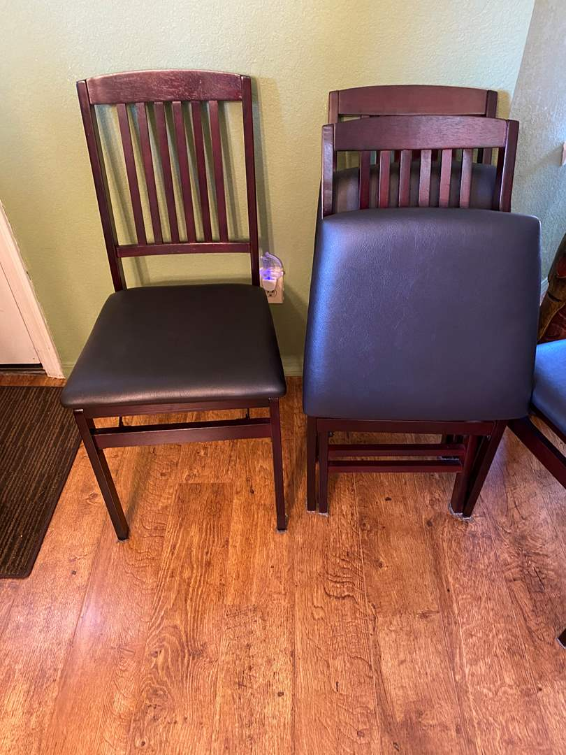 Lot # 2 - Set of Four Folding Chairs (main image)