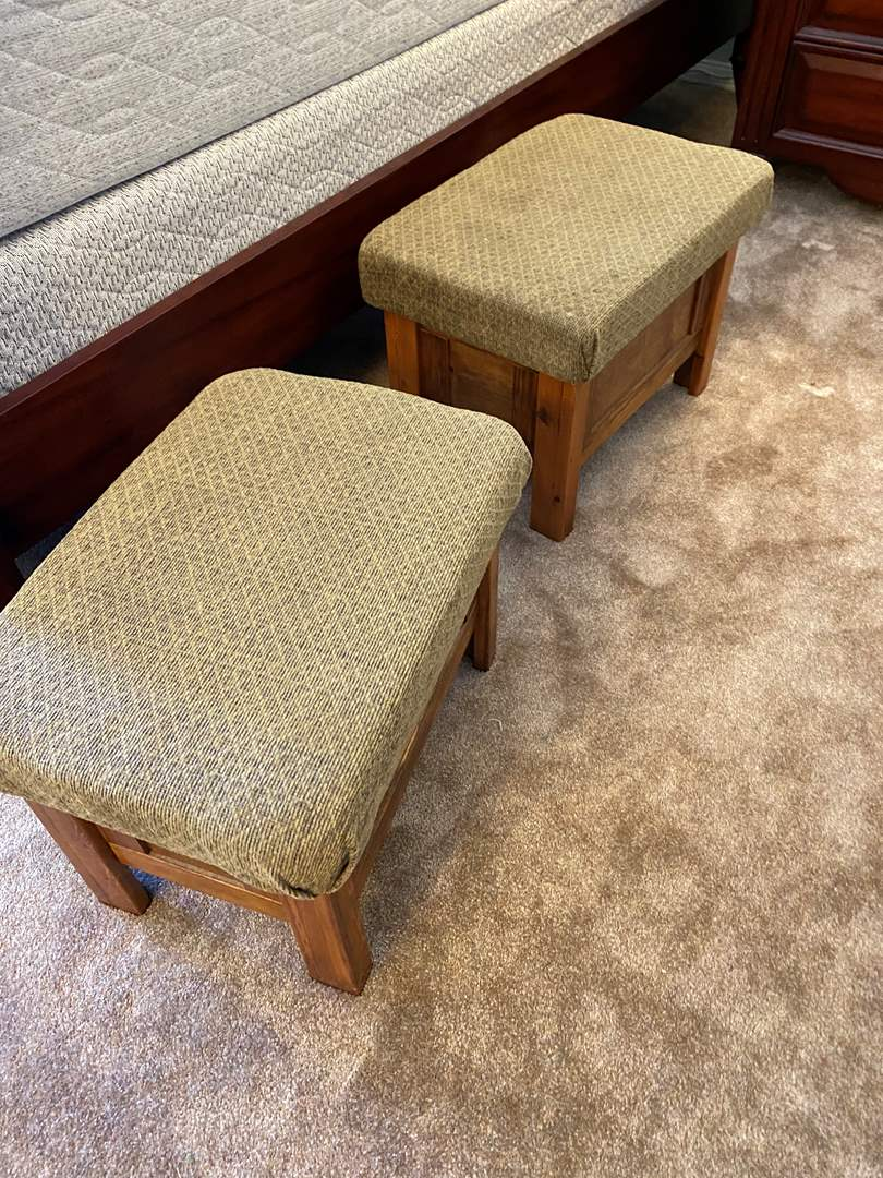 Lot # 16 - Pair of Matching Stools (main image)