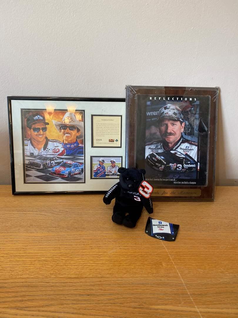 Lot # 6 - NASCAR Earnhardt & Petty Items (main image)