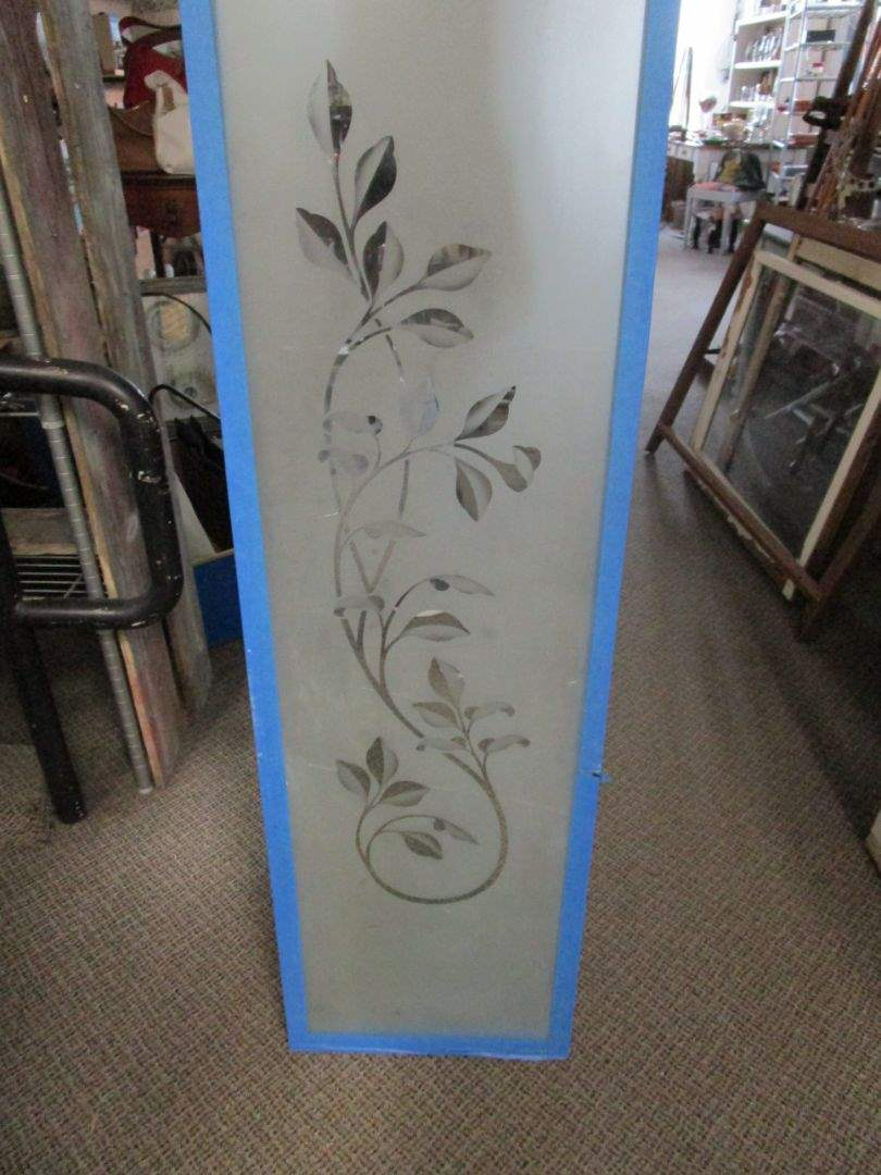 Lot # 25 - Matching Double Etched Window Panes (main image)