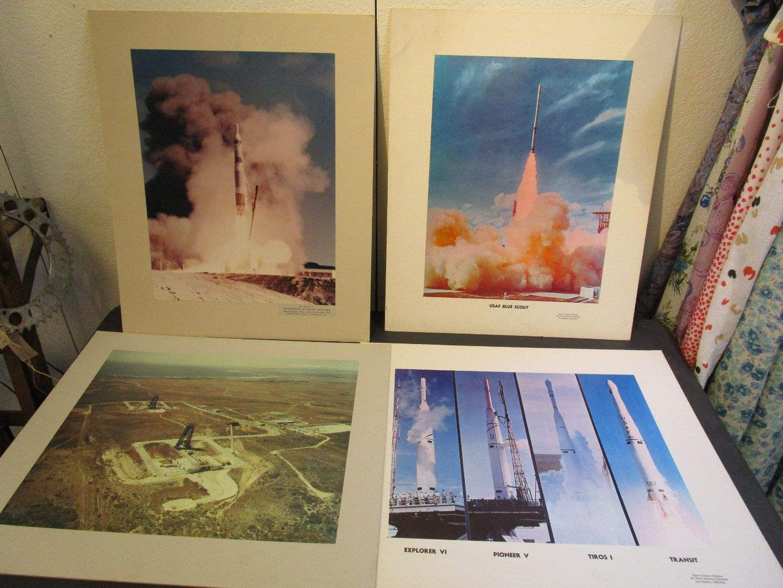 Lot # 112 - Original Vintage Rocket Posters (4) (main image)