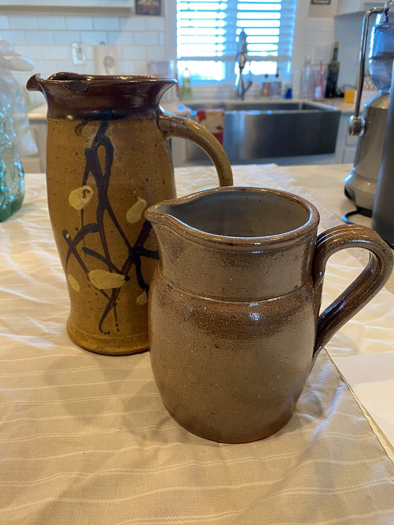 Lot # 2 - Hand Tossed Ceramic Pitchers (main image)