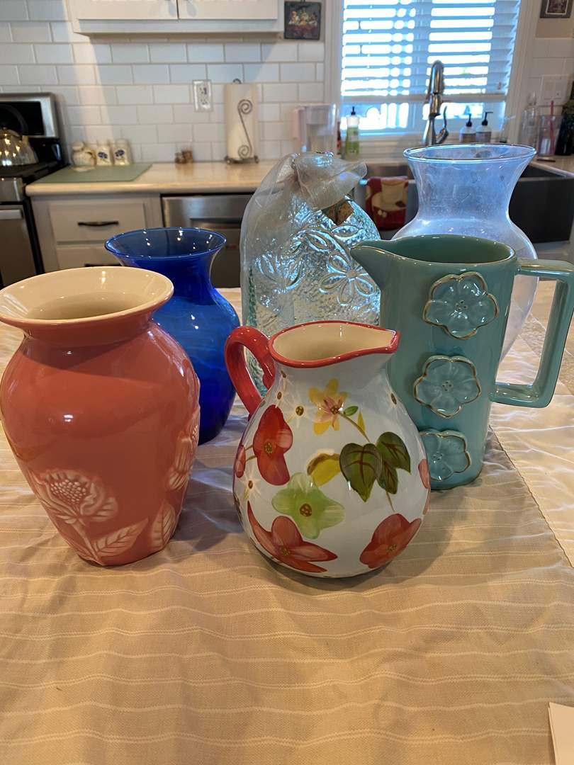 Lot # 3 - Collection of Pitchers & Vases (main image)