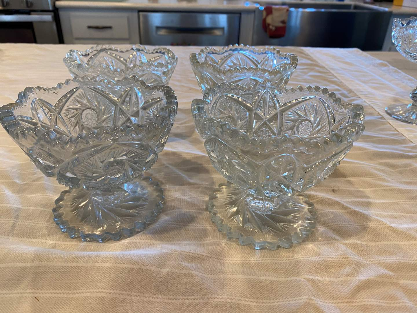 Lot # 4 - Vintage 5 Footed Fruit Cups (main image)