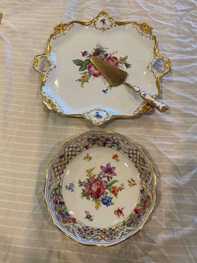 Lot # 8 - Bavarian Cake Plate & Bowl (main image)