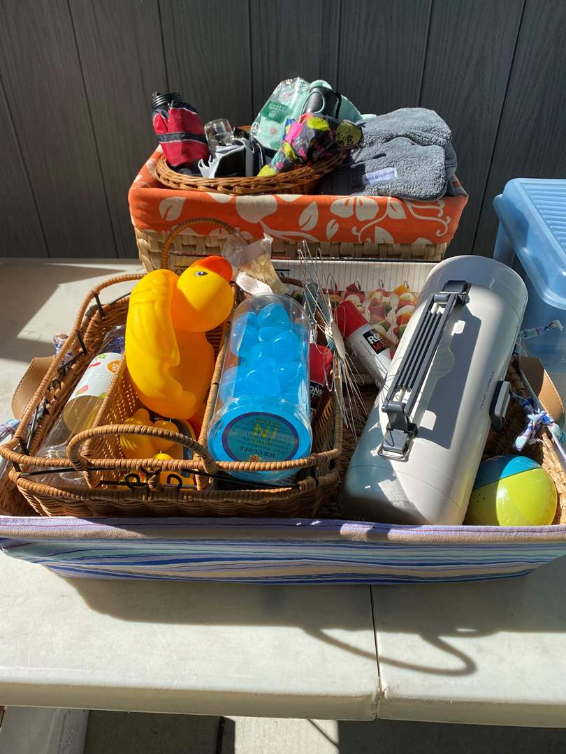Lot # 32 - Baskets Full of Bath Items & Picnic Items (main image)