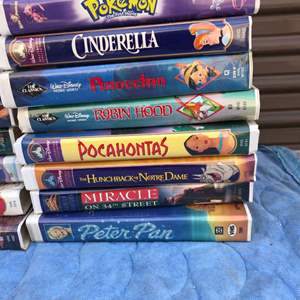 Lot # 124 - Disney VHS tapes in great condition & More