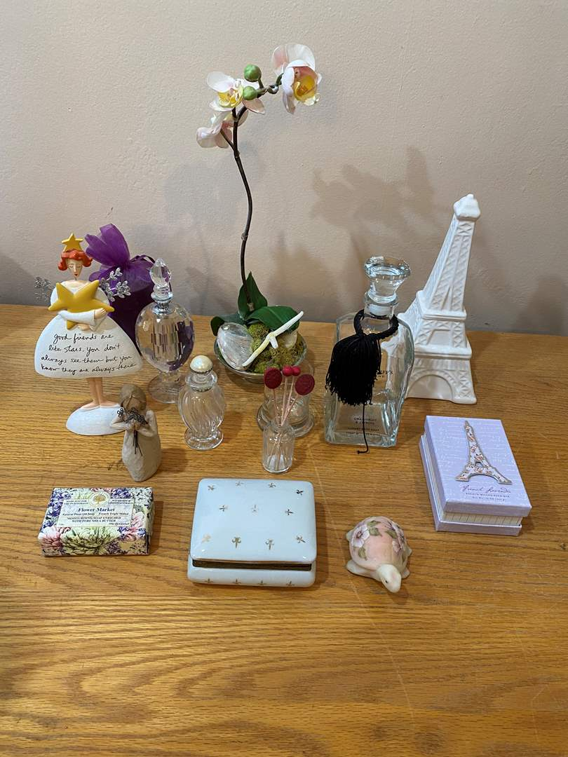 Lot # 2 - Perfume Bottles and Paris Memoirs  (main image)