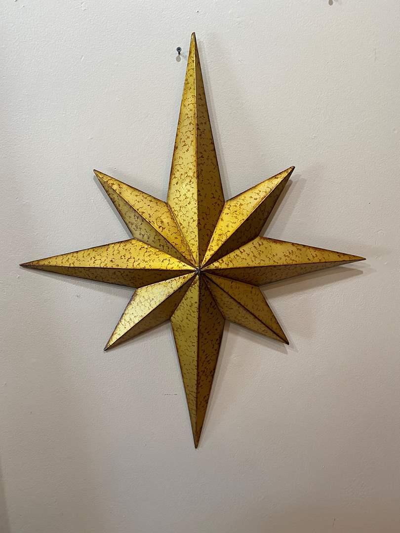 Lot # 30  - Wall Decor Metal Star  (main image)