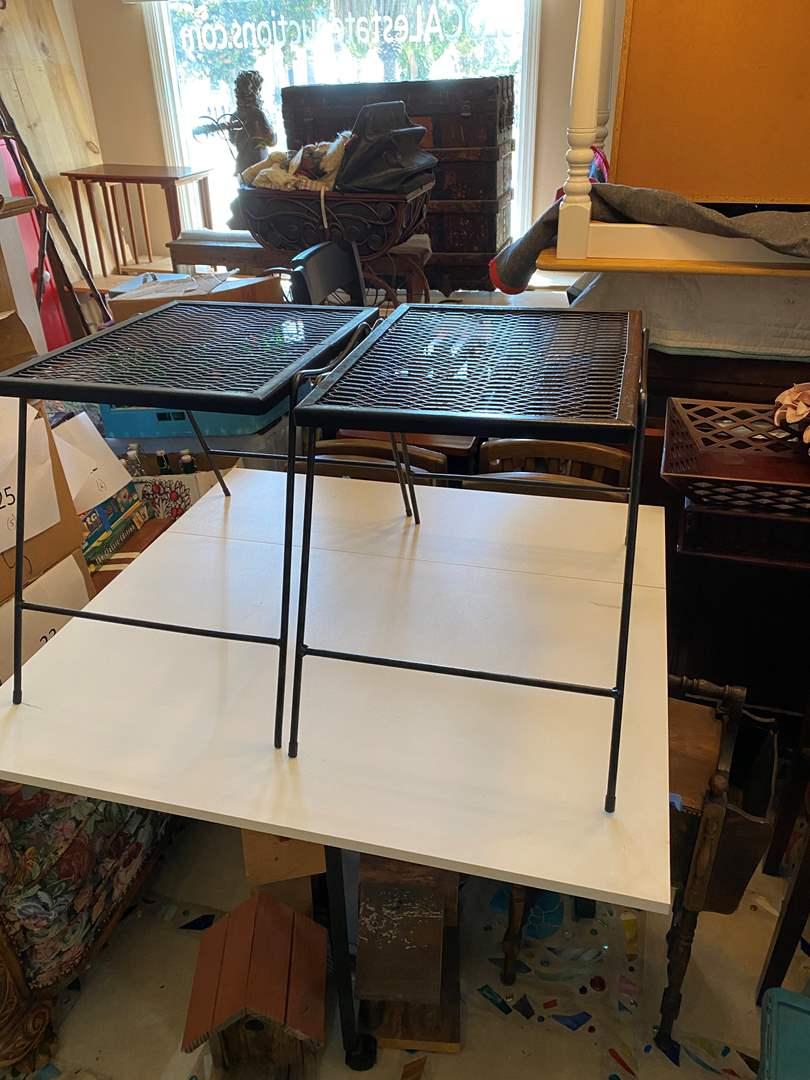 Lot # 33 - Matching Metal Tables (main image)