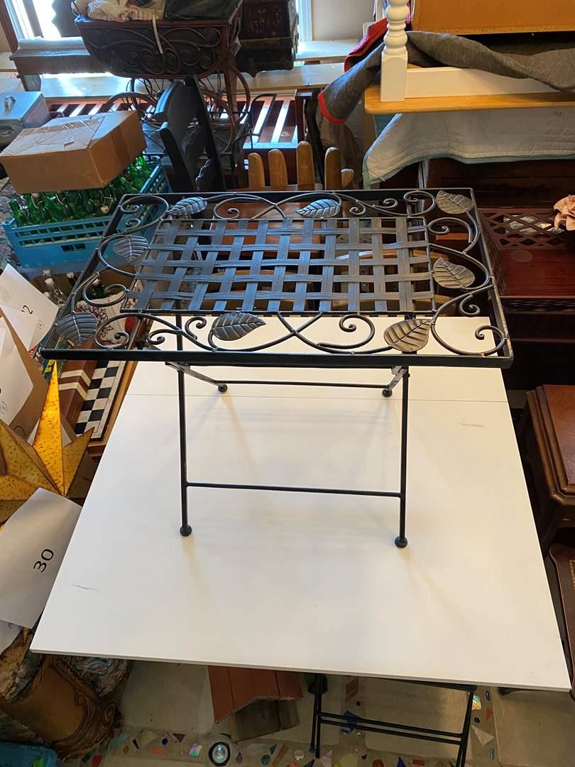 Lot # 35 - Folding Metal Table (main image)