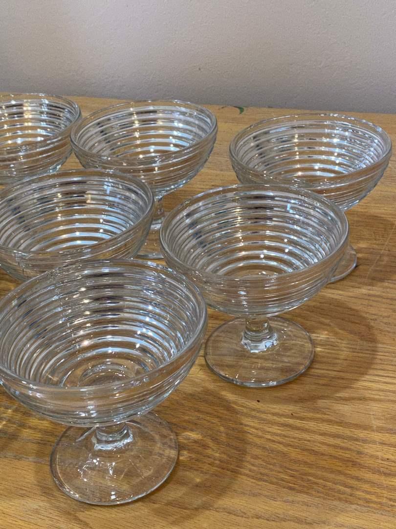 Lot # 135 - Vintage Glass Sundae Cups (main image)