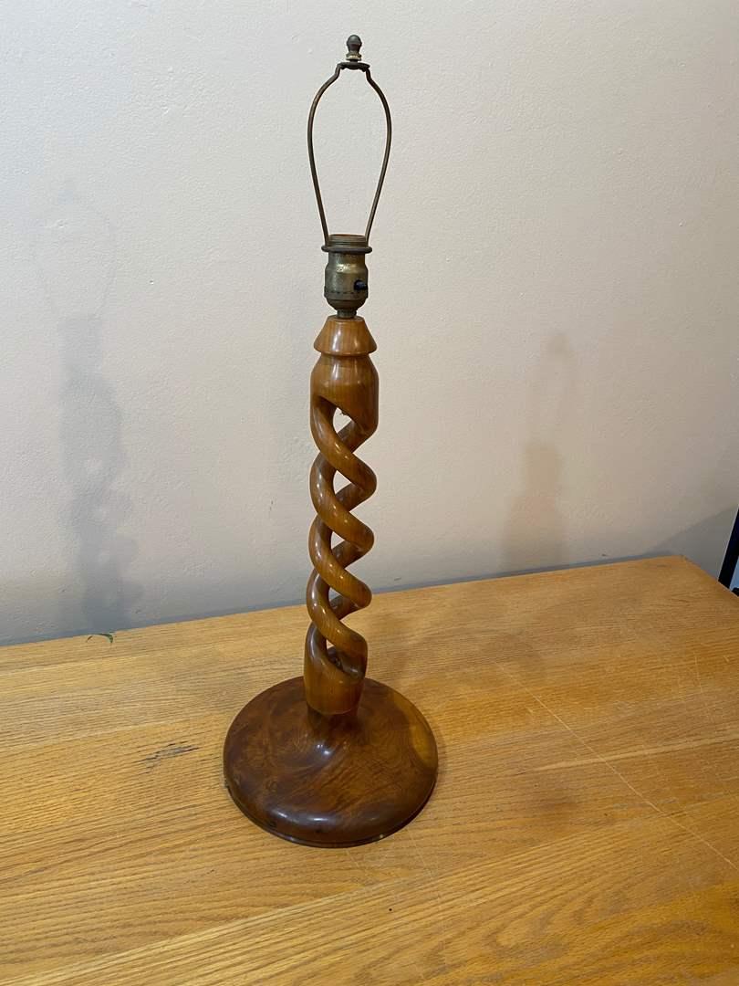 Lot # 152  - Vintage Wood Lamp (main image)