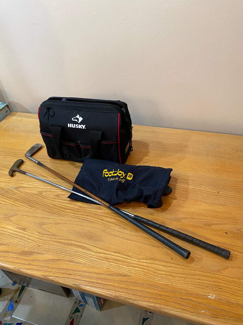 Lot # 156 - Golf Bag FULL and Two Clubs (main image)