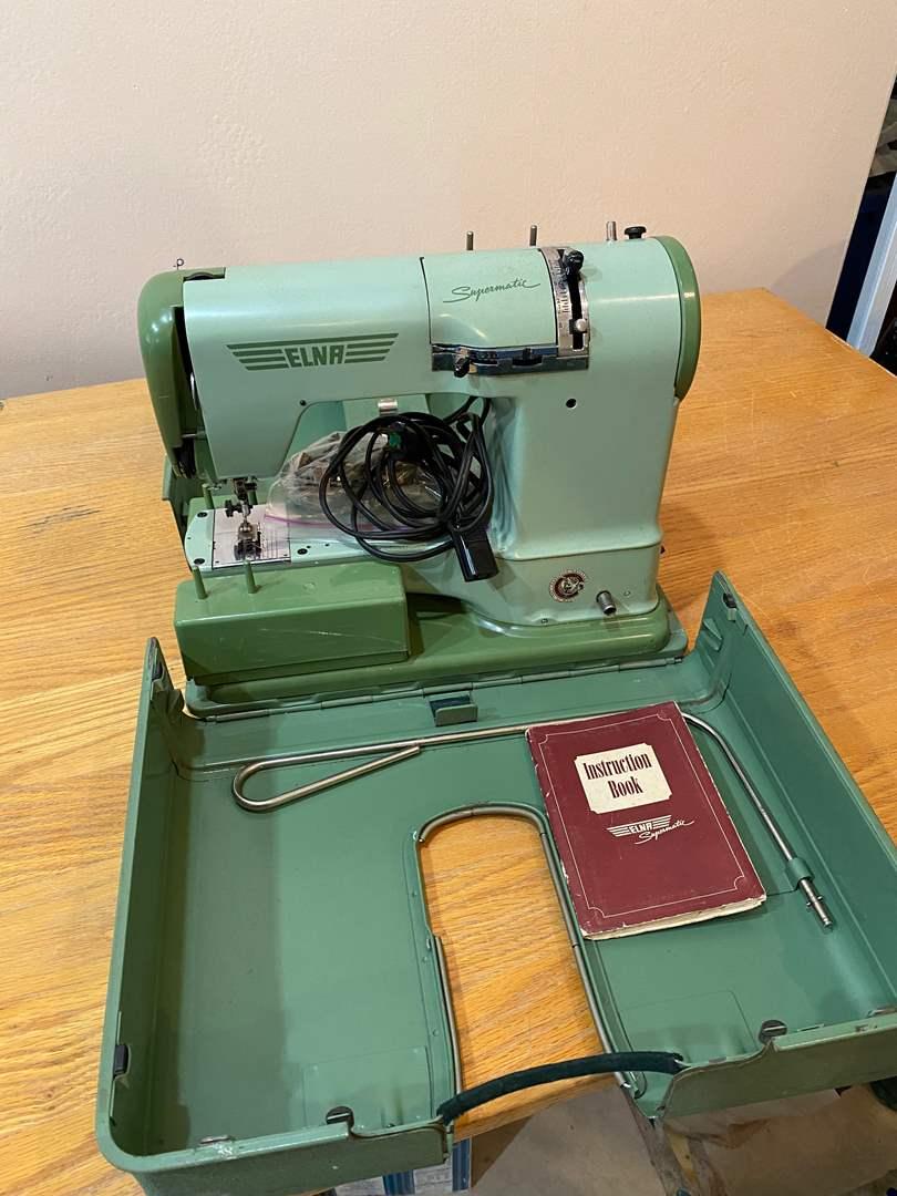 Lot # 184 - Elna Portable Sewing Machine - Scouts Pack 214 Fund Raiser (main image)