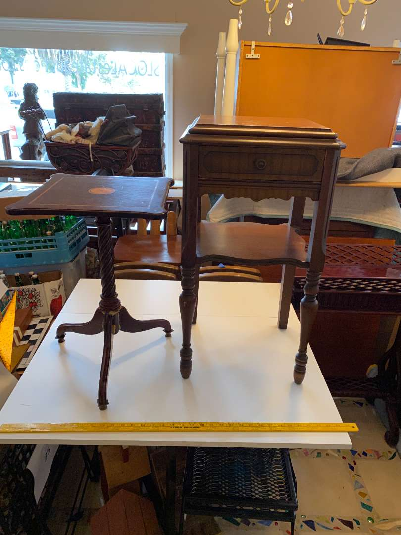Lot # 36 - Two Antique Tables (main image)