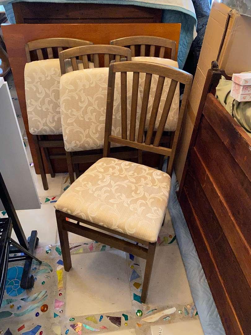 Lot # 39 - Fabulous Set of 4 Folding Chairs (main image)
