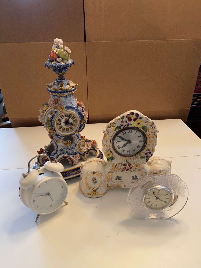 Lot # 44 - Beautiful Clocks, Crystal and Porcelain (main image)
