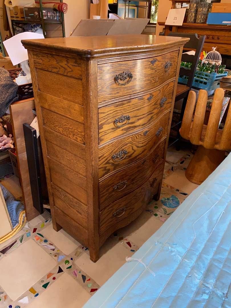 Lot # 101 - Antique High Boy Dresser (main image)