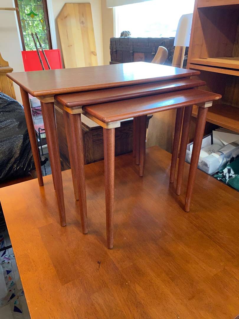 Lot # 107 - Westnofa Norway Mid-Century Stacking Tables (main image)